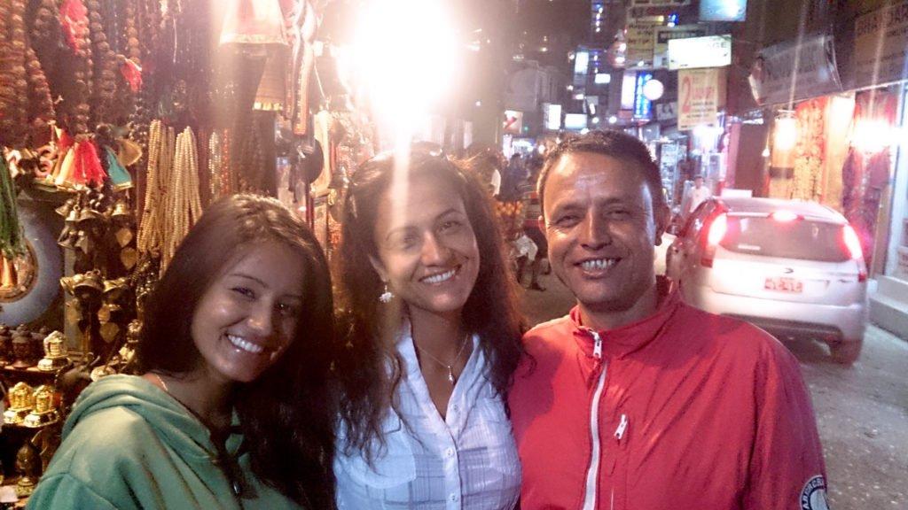 Återresa Nepal, Karin med bror och brorsdotter