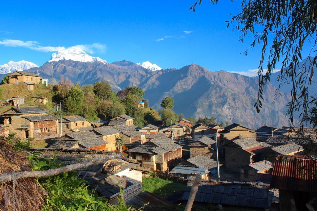 Annapurna Base Camp, en bergsby i Nepal
