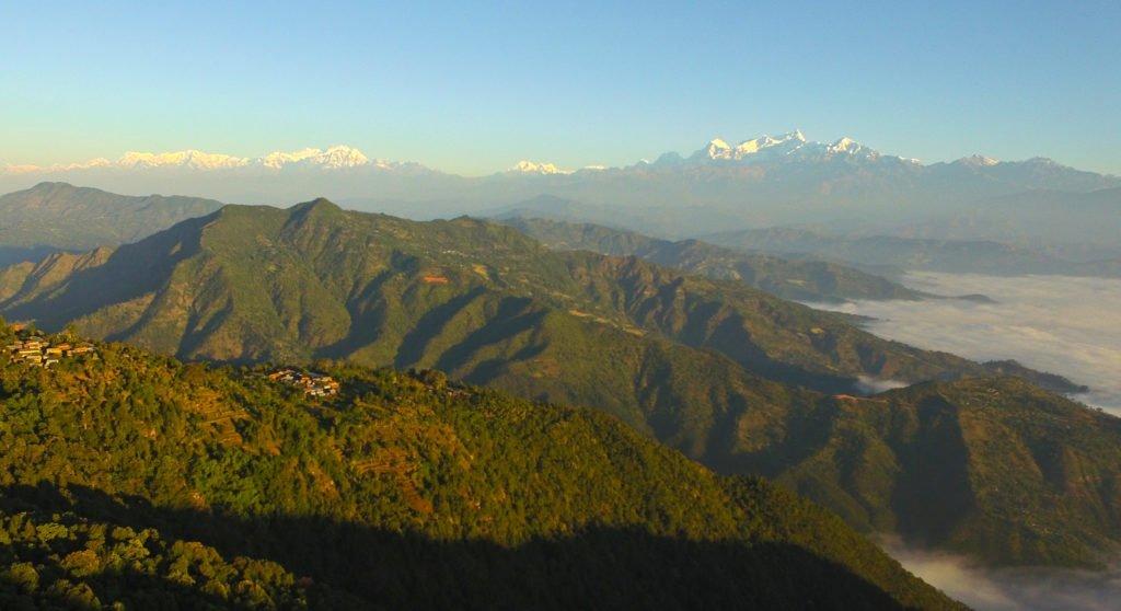 Vandra i Nepal, vyer av Himalaya