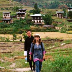 Besök på landsbygden på resa till Bhutan