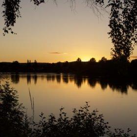 Solnedgång på Västerdalälven