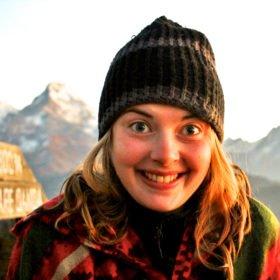 Agnes vid Mohare Danda, 3300m, målet för tjejresan. Nepal