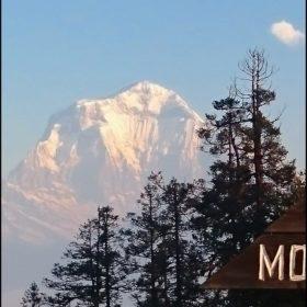 Vy av Dhaulagiri 8167 m.