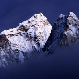 bergsvy på väg till Everest Base Camp