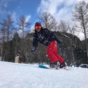 Radha Lama kör snowboard i Japan 2018