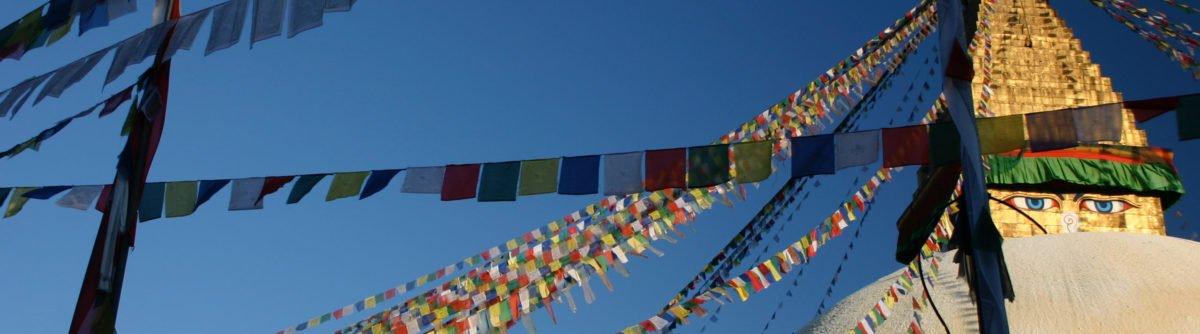 böneflaggor på rundresa i Nepal