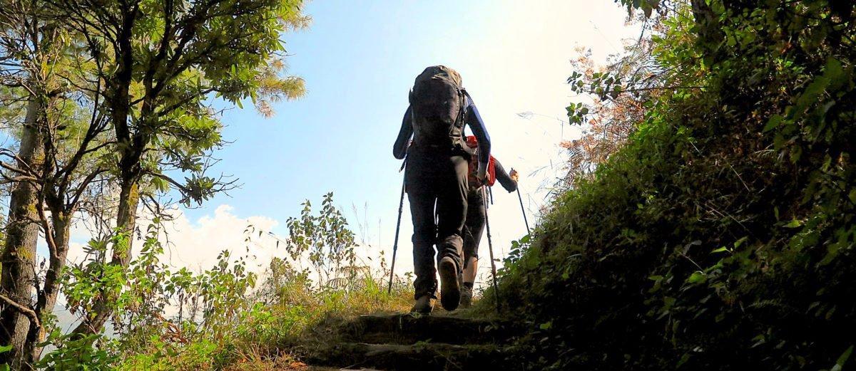 vandrare på vandringsresa Nepal
