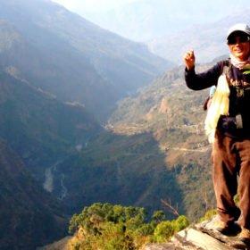 Ekovandring i Nepal, guide Saubir Rai