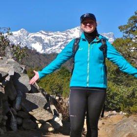 Lis vandrar mot Everests basläger