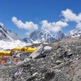 Tält vid Everests basläger