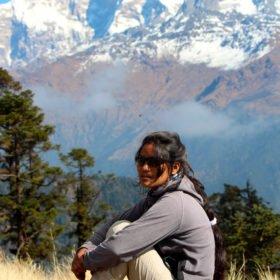 Anu Shrestha kvinnlig äventyrsguide
