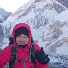 Ida Bäckström vid Mt Everest