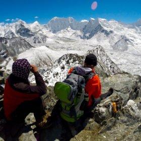 acklimatisering inför bestigning av Island Peak