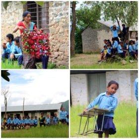 familjeresa Tibet och Nepal, på besök i nepalesisk skola
