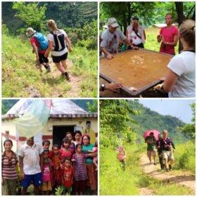 familjeresa Tibet och Nepal, på den nepalesiska landsbygden