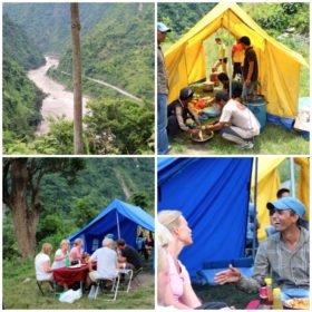 familjeresa Tibet och Nepal, på vandring i Nepal