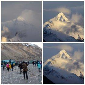 familjeresa Tibet och Nepal, Mt Everest sett från baslägret i Tibet