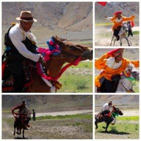 familjeresa Tibet och Nepal, ridning i Tibet