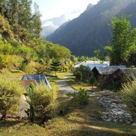 Paddlingresa Nepal, camping