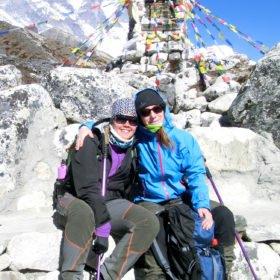 Gruppresa Everest, Yvonne med färdledare Frida Benedikt