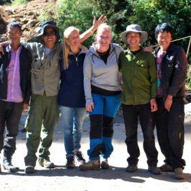 vandringsresa Bhutan, Marta med vandringsvänner