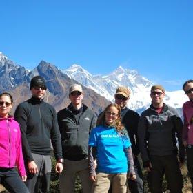 Gruppen på väg till Everest Basecamp