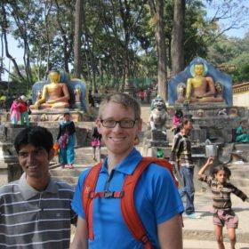 Anders vid Swayambunath i Katmandu
