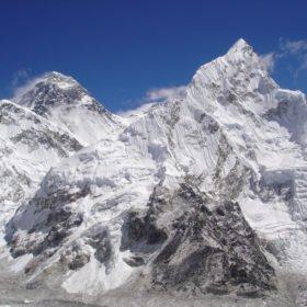 Mt Everest och Nuptse från Kala Pathar
