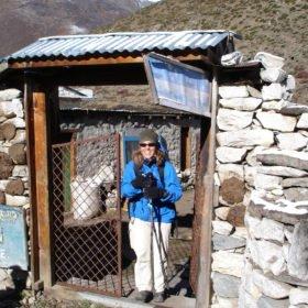 Färdledare på EBC, Inka Gurung, i Dingboche på 4400 m