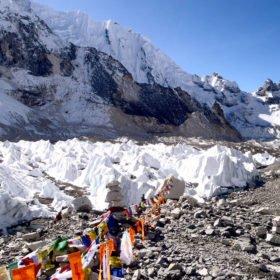 Glaciär vid Everest Base Camp, drömäventyr