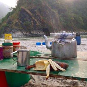 frukost på stranden, drömäventyr