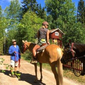 På häst på äventyr i Dalarna