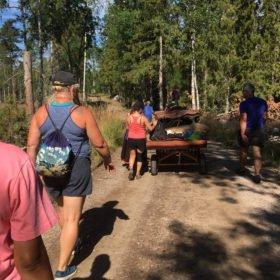 vi vandrar genom skogen, äventyr i Dalarna