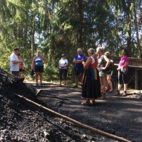 Gruppen vid en kolmila, äventyr i Dalarna