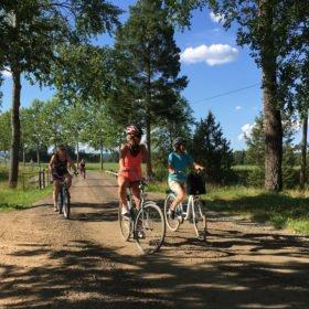 somrig cykeltur, äventyr i Dalarna