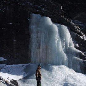 isklättring på kursen inför Island Peak