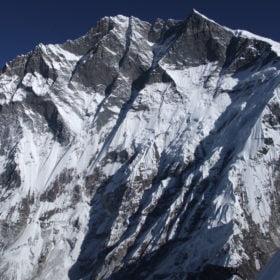 vy av berget Lhotse från Island Peak