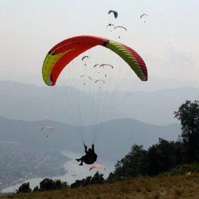 skärmflyg rundresa Nepal