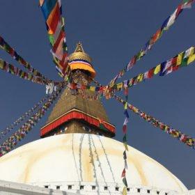 Buddistisk stupa rundresa Nepal