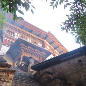 kloster på Bhutan vandring