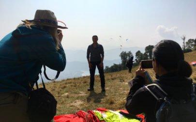 Sophie och Torkel på praktik i Nepal