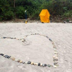Toatält på en strand
