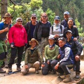 gruppbild på praktik i Nepal