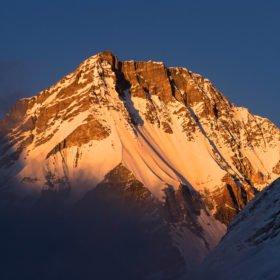 Bild av Torkel på hans vandring till Everest Base Camp