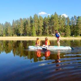 SUP paddling med barn