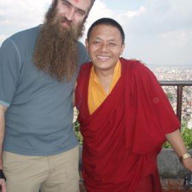 Möte med en munk på väg till Island Peak Nepal