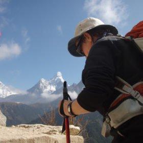 Karin på vandring till Everest Base Camp