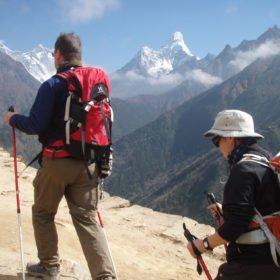 Roger och Karin och vackra berg