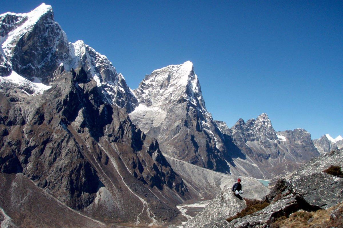 bergsvyer på vår vandring till Everest Base Camp
