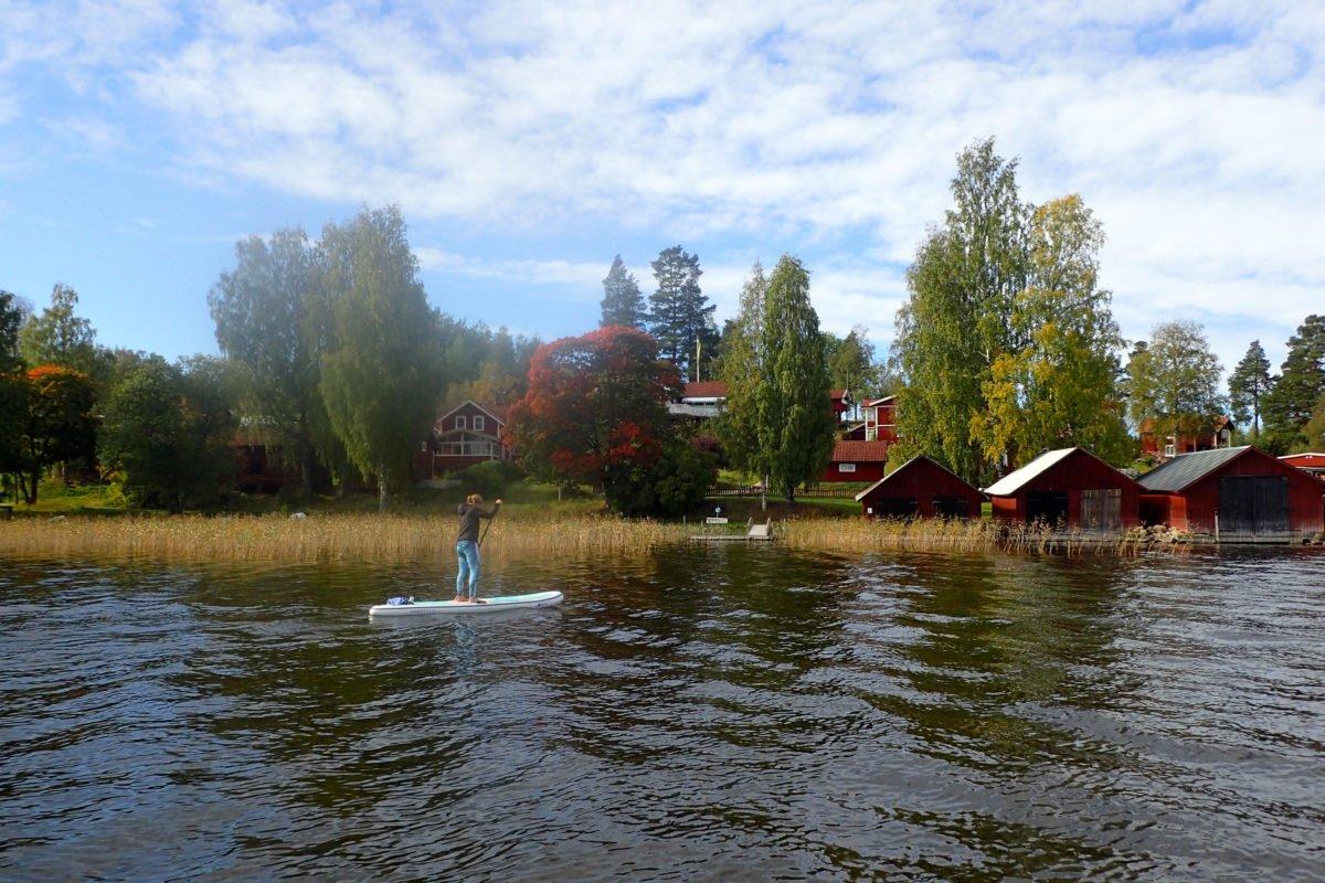 SUP-paddling på Flosjön